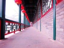 Beautiful ancient promenade. In Beijing Stock Images