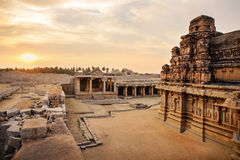Beautiful ancient ruins of Hazara Rama temple in Hampi Stock Photos