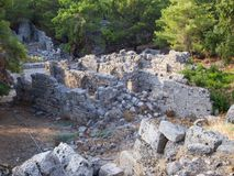 Beautiful ancient ruins in Phaselis Royalty Free Stock Image