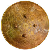 Beautiful ancient shield with inscriptions Royalty Free Stock Photo
