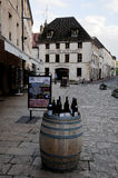 The beautiful and ancient streets of beaune burgundy france Royalty Free Stock Image