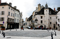 The beautiful and ancient streets of beaune burgundy france Royalty Free Stock Photo