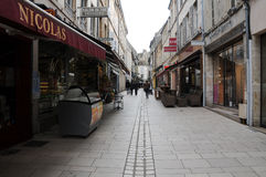 The beautiful and ancient streets of beaune burgundy france Stock Photography