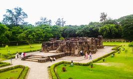 Structure in Konark Temple Stock Photography