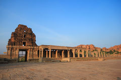 15th century Ancient temple gate, Hampi, India Royalty Free Stock Image