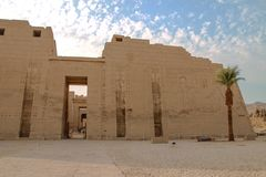 Beautiful ancient Temple of Medina-Habu. Egypt, Luxor stock images