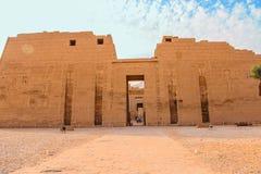 Beautiful ancient Temple of Medina-Habu. Egypt, Luxor stock image