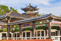 Beautiful ancient temple on the seaside, China Royalty Free Stock Photos