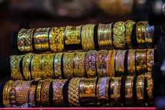 Beautiful Ancient Thai genuine silver jewelry, retro engraved si Stock Photography