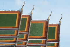 Beautiful ancient thai temple blue sky Stock Images