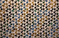Beautiful tile detail from Alhambra Palace, Spain Royalty Free Stock Photography