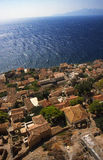 Beautiful ancient town Monemvasia, Greece royalty free stock images