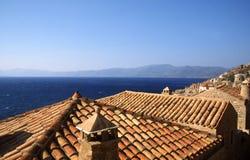 Beautiful ancient town Monemvasia, Greece royalty free stock photo