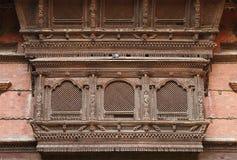 Beautiful ancient window of Hanuman Dhoka Durbar Stock Images
