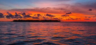 Free Beautiful And Colorful Sunset In Key West. Miami, Florida Royalty Free Stock Image - 181383056