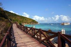 Free Beautiful And Peaceful Sea With Bridge Stock Photography - 2024502