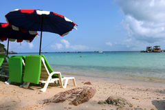 Free Beautiful And Peaceful Sea With Chair Stock Image - 2028701