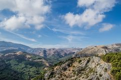 Beautiful Andalucía, España. Road trip throught beautiful and colorful landscapes and towns of Andalucia Stock Images