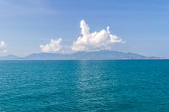 Beautiful Andaman sea with blue sky on vacation and sunlight bac Stock Photo