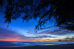 Beautiful Andaman Sea in Sunset. Very Beautiful Andaman Sea in Sunset Royalty Free Stock Image