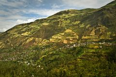 Beautiful andean city of Cañar in Azogues Ecuador Royalty Free Stock Photo