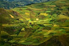 Beautiful andean city of Cañar in Azogues Ecuador Royalty Free Stock Image