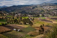 Beautiful andean city of Cañar in Azogues Ecuador Stock Photo