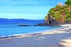 beautiful andilana beach seaweed in indian ocean madagascar Royalty Free Stock Images