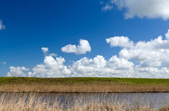 Beautiful ;andscape with river and sky Royalty Free Stock Image