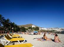 Beautiful Anfi beach. stock photos