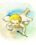 Beautiful angel. Beautiful illustration with angel,cupid holiday human Royalty Free Stock Photos