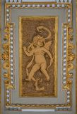 Beautiful angel as defender at the ceiling top near the Parliament in Vienna, Austria. Details, closeup royalty free stock photos