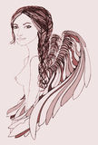 Beautiful Angel with creative braid Stock Images