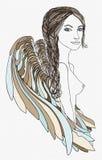 Beautiful Angel with creative braid Stock Photo