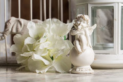 Beautiful angel figurine on the background. Stock Photography