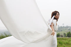 Beautiful angel flying girl, Fairy women Stock Photo