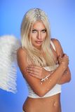 Beautiful angel freezing Royalty Free Stock Photography