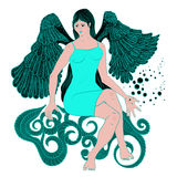 Beautiful angel girl Royalty Free Stock Photography