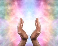 Beautiful Angel healing energy Royalty Free Stock Images