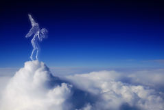 Beautiful angel in heaven Royalty Free Stock Photos