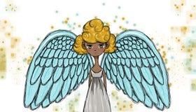 Beautiful angel, illustration Stock Images