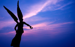 Beautiful angel over beautiful sky Stock Images