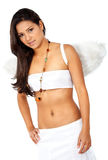Beautiful angel over white Royalty Free Stock Photos