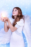 Beautiful angel praying Royalty Free Stock Image