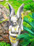 Beautiful angel sculpture model Royalty Free Stock Photo