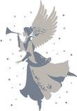 Beautiful Angel Silhouette Stock Photo