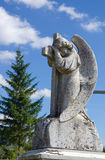 Beautiful angel statue on cemetery Stock Photography