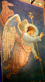 Beautiful angel temple. Beautiful angel with wings mosaic in the interior of the temple Stock Photos