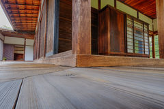 Beautiful angles and wood in the Cultural Japanese Tea House Stock Images