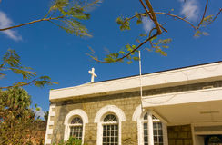 The beautiful anglican church on bequia in the grenadines Stock Image